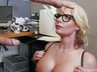 Business chic Phoenix Marie is a busty cum gutter who is in love with slapping with her employees. lascivious milf with overweight milk cans besides t