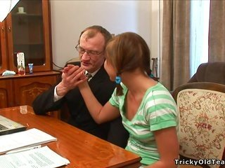 sex lesson with slutty patriarch together with pigtails teen