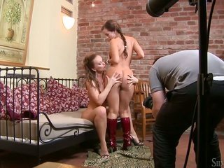 Cindy Dollar besides Silvia Saint are two thrilling lesbians that take pleasure in sissy licking