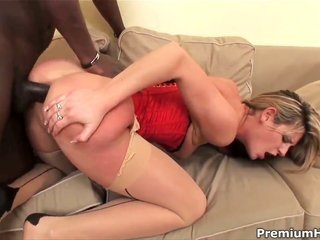 Kristina ight golden-haired is in the mood for the reason that interracial getting laid