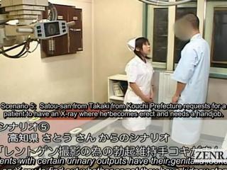 Subtitle CFNM korean nurse patient disrobe tugjob xray