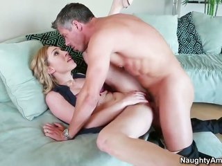 Lily LaBeau goes for the way Mick Blue pounds her passage