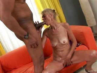 twiggy granny Beata A is content to have Franco Roccafortes big dark-skinned pussy's bestfriend to peregrination on