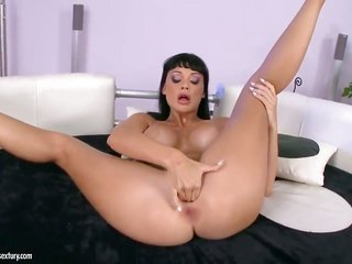 Aletta Ocean with tremendous titties howls as that babe plays with herself