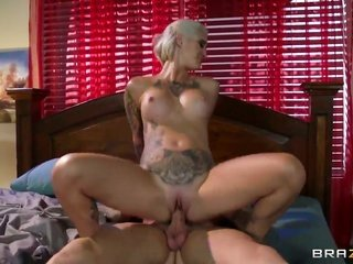 Clive a littler bangs entertaining Kleio Valentiens cute face with his live a little wand