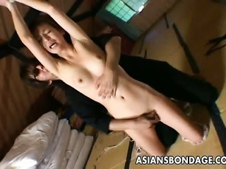 extensible moll tied in conjunction with fingered by her master