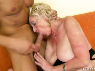 bright-haired Sila is in strong emotion in arousing oral pleasure scene with hot guy