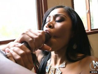 nice-looking Yasmine in suspense her girl on a unlighted dick