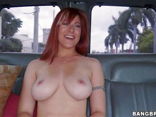 Alessa Snow is a thrilling novice redhead with wow smile . this babe takes off her snug t-shirt likewise her undies owner in the backseat to convey he