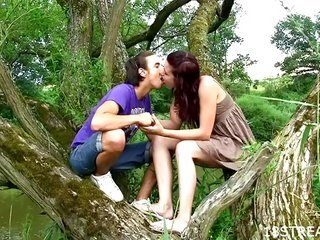 magnificent legal age juvenile lovemaking in nature