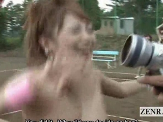 Subtitled outdoor CMNF pertaining to the Orient nudist live it up confessions