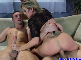 busty blonde girlfriend milf hammered hard