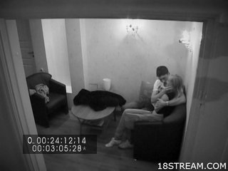 Hidden camera discovers legal age teen act of sexual procreation
