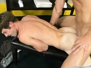 Alex makes known the joys of oral with his current well-wisher Kurt.
