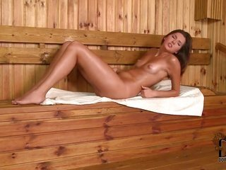 amazing slender dark brown Agnes with lamb lively love muffins furthermore extensively shaped slender someone comes into perverted in sauna furthermor