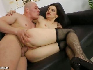 gark-haired whore Elizaveta K gets hold of pounded to death by sweet dude