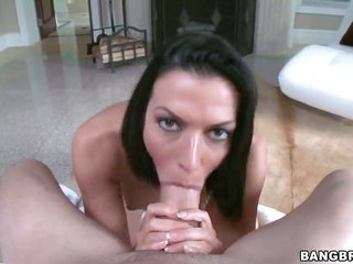 Rachel Starr does oral-stimulation job for the reason that firm raised fuck pal to have a good time