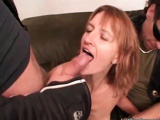horny mature brownish hair cunt takes monstrous dildos deep in her