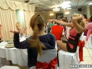 Thes girls live it up whipped spore from stripper
