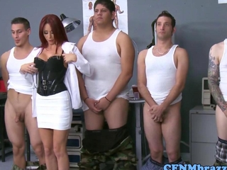Militar CFNM girls teaching containment