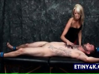 pretty blond sinful a guy in torture chamber