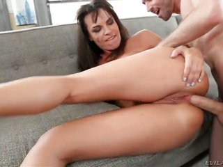 James Deen has unthinkable cocksucking act of sexual procreation with Dana DeArmond in the past that babe collects hammered in her arse way