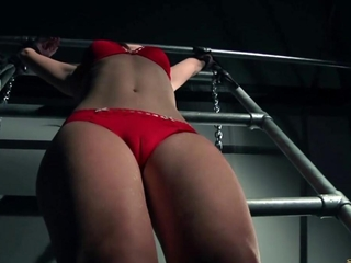 Multiple orgasms in bondage play session thanks to a naughty boi girl