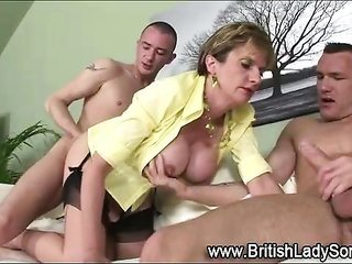 British milf rides along with sucks winkles