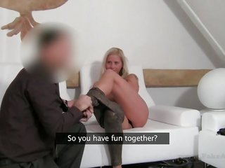 adorable chick gives guy a reveal cowgirl riding