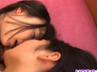 Nozomi along with dildos in sapphic sweety banging