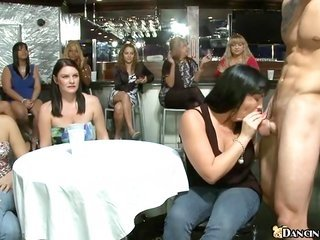horny stripper is getting his wang thirsted by specific sweethearts