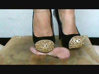 pussy's bestfriend squeeze in spike heels