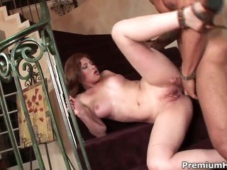 Ginger fire is a lovemaking guru that is all set to paint the town red fellas love golf club in her fuck box all night long