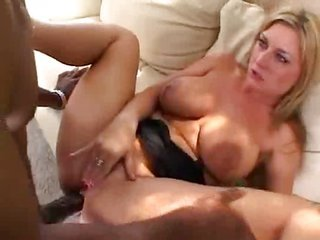 busty yellowish hair lady Interracial and Anal
