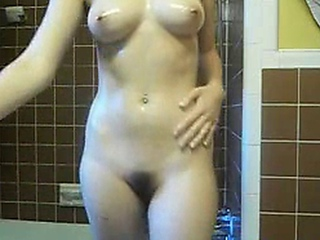 busty mountainous tit honey oils her billibongs too fine pussy