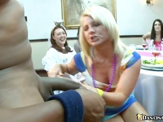 sexually bizzare stripper gets hold of his protracted more than that considerable male rod satisfied