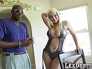 Blondie overweight bumpers Leya Falcon collects destroyed by Lexington Steeles bbc